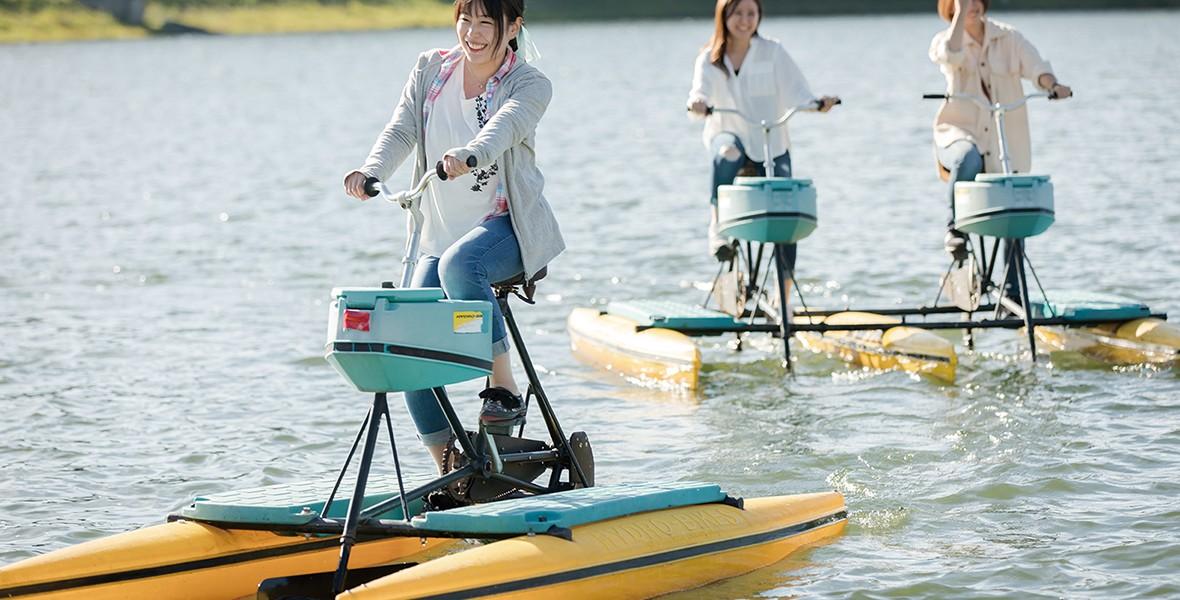 女神湖で遊ぼう!